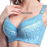 Simple Nature Comfortable Adjustment Gather Bra(Size:36D-44DD) [8833672460]