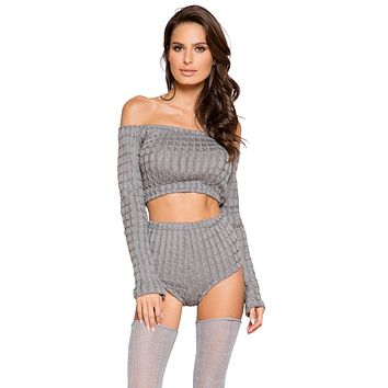 Sexy Wildest Dreams Cosy Cable Knit Pajama Set