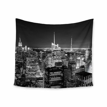 City Views - Black White Urban Photography Wall Tapestry