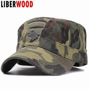 LIBERWOOD US Tactical Hats 101ST AIRBORNE SCREAMING EAGLE Cap Air Force Baseball caps for Men Cotton camouflage ARMY cap hats