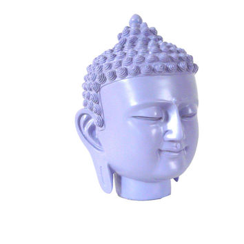 buddha head, statue, lilac pastel, spring decor, buddha home decor, buddha art, nursery