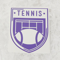 4x4.5 Inch Tennis Insignia Vintage Badge Athletic Graphic Permanent Vinyl Decal/Bumper Sticker