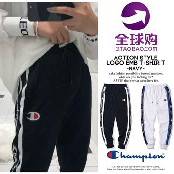hcxx 569 Champion fashion side striped casual Sport Pencil Pants