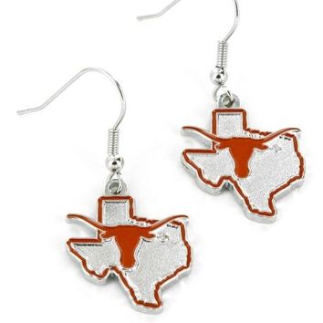 Texas Longhorns Earrings State Design