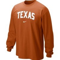 Nike Men's Texas Longhorns Burnt Orange Classic Arch Long Sleeve Shirt