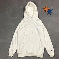 Champion Fashion Velvet Hoodie Top Sweater Pullover
