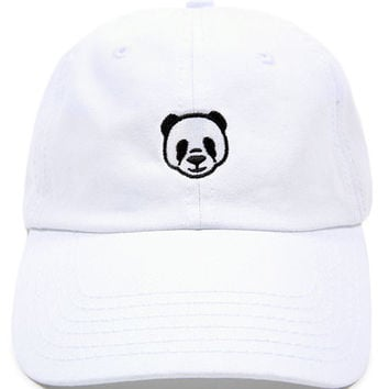 Panda Low Profile Sports Cap - White