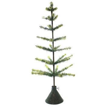 Christmas TWO TONE CHRISTMAS FEATHER TREE Other Tin Cone Base Lg6139