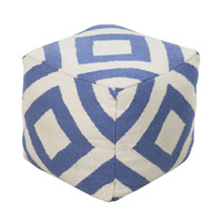 Soothing Blue Pouf