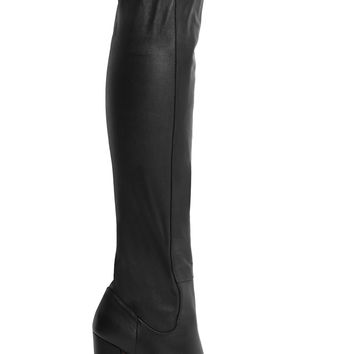 Aquazzura - Kensington leather over-the-knee boots
