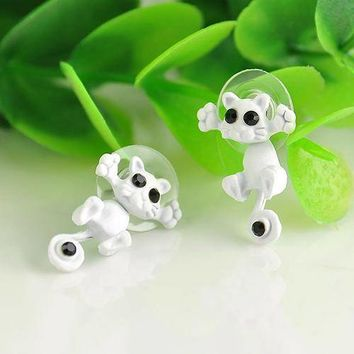 ON SALE - Cool Cat Two Piece Moving Earrings