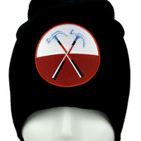 The Wall Hammers Marching Beanie Alternative Clothing Knit Cap Pink Floyd