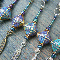 Mood belly rings color changing peacock beads feathers in tribal fusion belly dancer indie gypsy hippie moroccan boho and hipster style