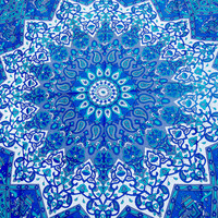 Star hippie mandala tapestries Twin Indian tapestry psychedelic bohemian Bedding Sheet beach throw blue room dorm wall hanging ceiling decor