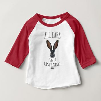 All Ears Baby Design by Kat Worth Baby T-Shirt
