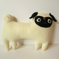 MADE TO ORDER  Pixel the baby pug  Handmade plush by sleepyking