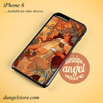 Alphonse Mucha 7 Phone case for iPhone 6 and another iPhone devices