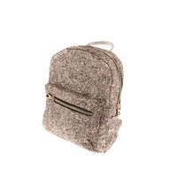 Mini Glitter Backpack in Pink