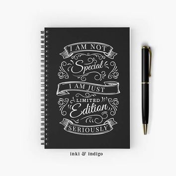 I Am Not Special I Am Just Limited Edition - Spiral Notebook With Lined Paper, A5 Writing Journal, Diary, Lined Journal, Funny Notebook