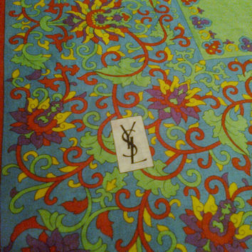 Stunning Yves Saint Laurent vintage cotton scarf