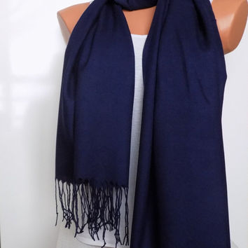 NAVY Shawl, Wedding Shawl,Navy Pashmina,Bridesmaid Shawl,Bridesmaid Gift, Wedding Favor,Bridal Wrap,Blue Color Scarf,Blue Pashmina scarf