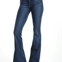 They're really cute and cozy high waist jeans, but the Bell Bottom jeans are too cute to hide at home! Let the world see how stylish you are in these dark blue flare jeans that have a 70's fashion inspired with modern day twist, these high waist jeans feat