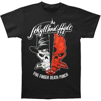 Five Finger Death Punch Men's  Jekyll And Hyde T-shirt Black