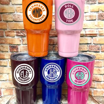 College Stainless Tumbler 30oz.
