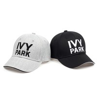 Trendy Winter Jacket IVY PARK Baseball Cap Beyonce Sporty Style Cotton Hemp ash Hat Unisex Snapback Caps for Women Man Brand Embroidery Gorras AT_92_12