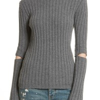 Helmut Lang Re-Edition Elbow Cutout Lambswool Sweater | Nordstrom