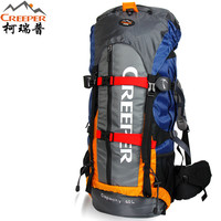 New Arrival Men's Outdoor Climbing Backpacks Nylon 60L Travel Sport Mountaineering Bag Zipper Waterproof Leisure Hiking Backpack