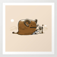 "Star Wars ""Bantha"" Art Print by Nostromo"