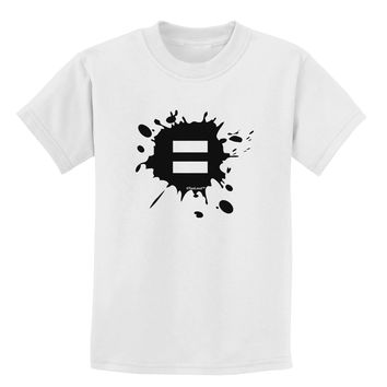Equal Paint Splatter Childrens T-Shirt by TooLoud