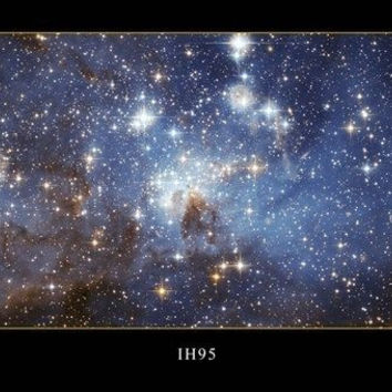 HUBBLE SPACE IMAGE POSTER IH95 24X36 galaxies STARS astrology VERY DETAILED