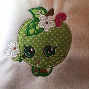 Shopkins Green Apple Appliqued T Shirt Available from 12m to 14/16