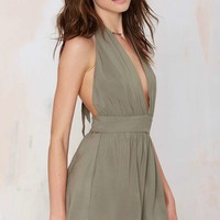After Party Vintage Mayla Halter Romper