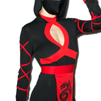 Enter The Dragon Ninja Costume BLACK