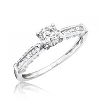 5/8 Carat T.W. Diamond Solitaire Women\'s Engagement Ring 14K White Gold