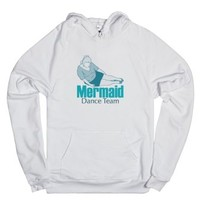 Mermaid Dance Team-Unisex White Hoodie
