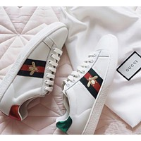 Gucci Old Skool Trending Women Fashion Embroidery Bee Sneakers Sport Shoes White G