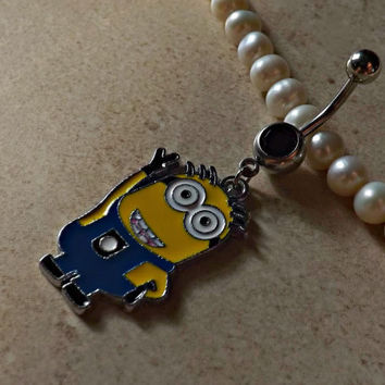DESPICABLE ME MINION Waving Belly Ring Navel Ring Body Jewelry