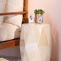 Kinsley Iridescent Side Table - Urban Outfitters