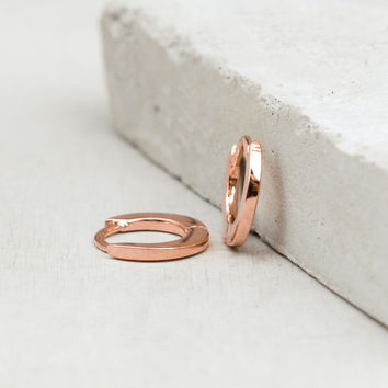 Plain Mini Ear Huggies - Rose Gold