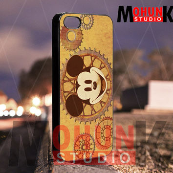 Steampunk Mickey Mouse - iPhone 4/4s/5/5s/5c Case - Samsung Galaxy S3/S4 - Blackberry z10 Case - Black or White