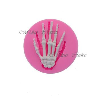 Halloween Skeleton Hand Silicone Mold