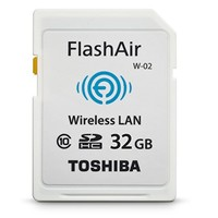 Toshiba Flash Air II Wireless 32GB SDHC Memory Card (PFW032U-1BCW)