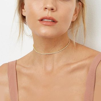 Swarovski Crystals Classic 3mm Tennis Choker  Necklace