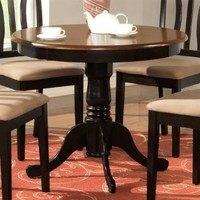 Wooden Imports AD01-T-BL&CH Antique Table 36 in. Round - Black and Cherry