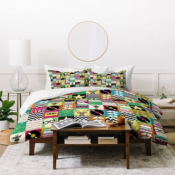 Sharon Turner Hip Hip Geek Duvet Cover