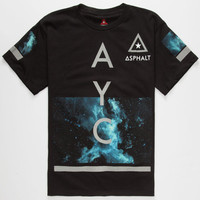 Ayc Modern Cosmos Boys T-Shirt Black  In Sizes